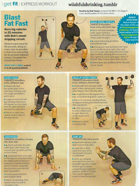Biggest Loser Workout! Do it at home! :)