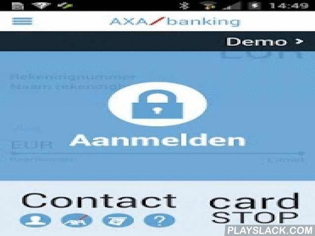 Mobile Banking Service  Android App - playslack.com ,  Vanaf nu staat AXA nog dichter bij haar klanten, want met de gratis app mobile banking service van AXA Bank kunt u, waar en wanneer u maar wilt, volgende verrichtingen uitvoeren: Uw saldo en kredietlijn in real time raadplegen en dit voor al uw rekeningen. Uw uitgavenstaat en gebruikslimiet in real time raadplegen en dit voor al uw Visa kredietkaart(en). De historiek van al uw verrichtingen consulteren. Uitvoeren van Europese…