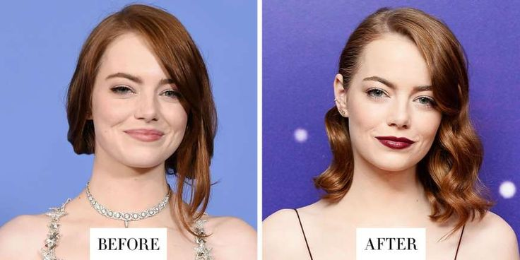 EMMA STONE:   When: January 13, 2017  -   What: Deep Red Hair  -   Why we love it: There was something noticeably different about Emma Stone's hair last night. And it's not just because she styled it in glamorous waves or paired it with a deep red lipstick. The La La Land star's red hair looked even redder—  MORE...