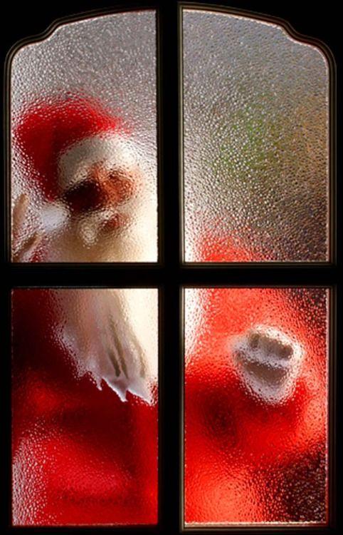 Santa at the door!
