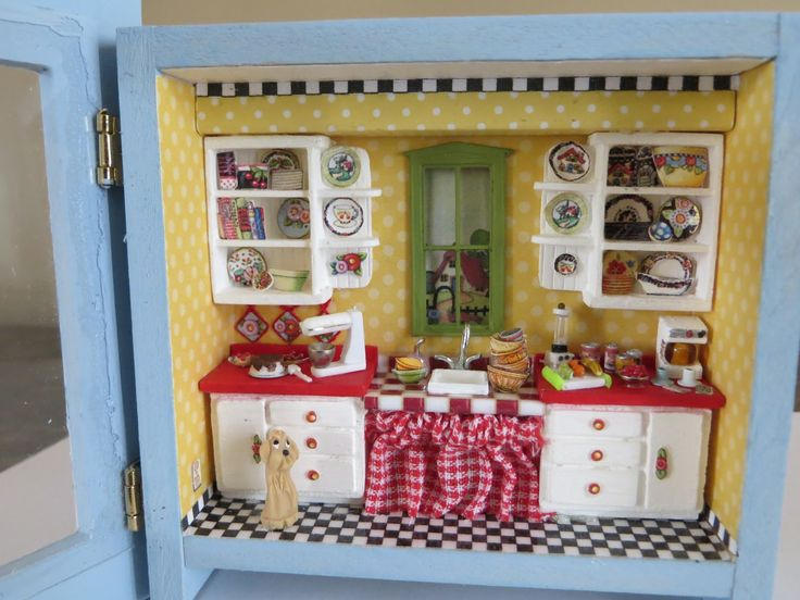 mary engelbreit dollhouse | added hinges and acrylic from a notecard box to the frame opening ...