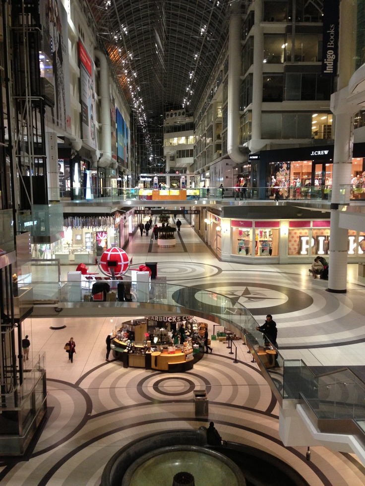 Toronto Eaton Center, 4 March 2013, 9:00pm. Unedited & unfiltered using Apple iPhone 5