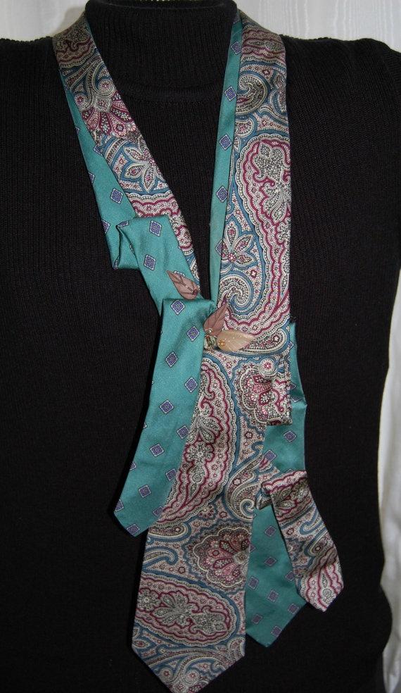 repurposed tie into scarf