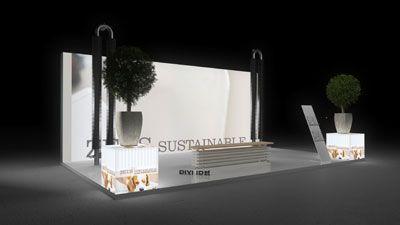 434 Heizungsanlagen Zeus Sustainable   Schöner Messestand für einen Hersteller von Heizungsanlagen.   Die einheitliche Farbgestaltung der Leuchtflächen gibt dem kleinen Kopfstand ein sau...