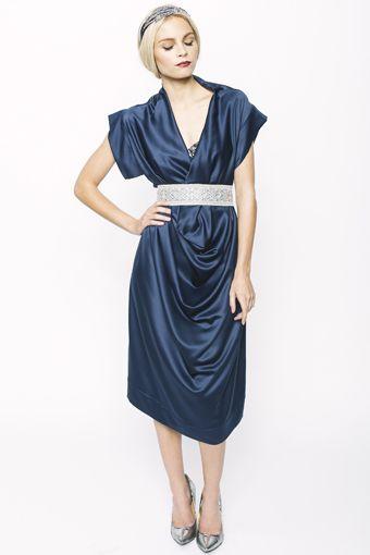 Sapphire Drape Dress