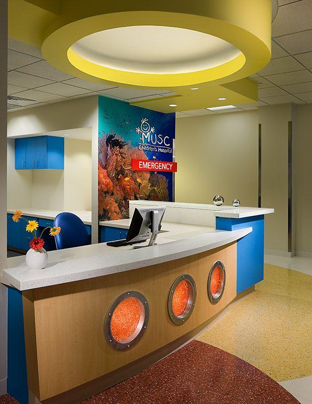 lobbies for children hospitals | MUSC Children's Hospital ED Lobby InteriorCharleston, SCStanley Beaman ...