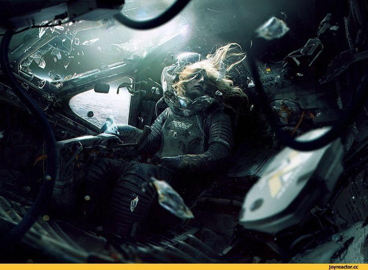 красивые картинки,Sci-Fi art,космос,девушка,волосы,Sci-Fi,art,арт