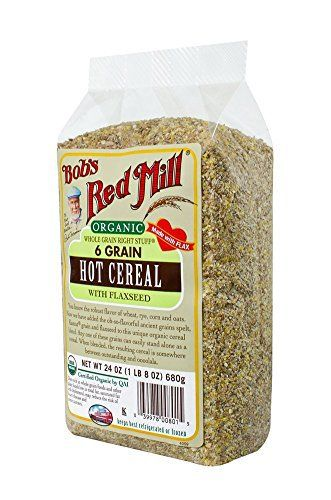 Bob's Red Mill Organic 6 Grain Hot Cereal, 24-Ounce (Pack of 4) - http://sleepychef.com/bobs-red-mill-organic-6-grain-hot-cereal-24-ounce-pack-of-4/