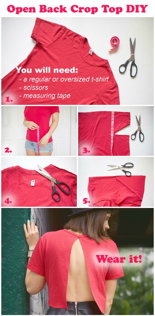 Open Back Crop Top DIY Steps