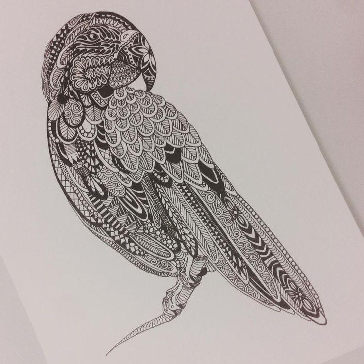 Мой попугайченко. #doodle #zentagle