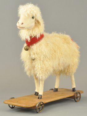 Large German sheep pull toy.