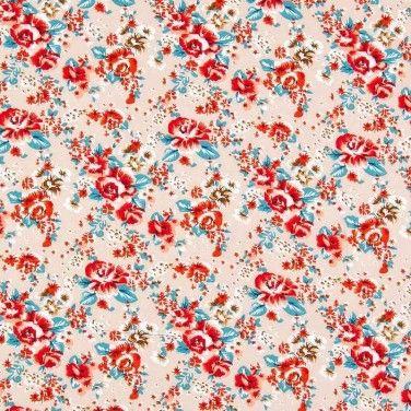 Print Viscose Poplin Fabric Fawn 137cm