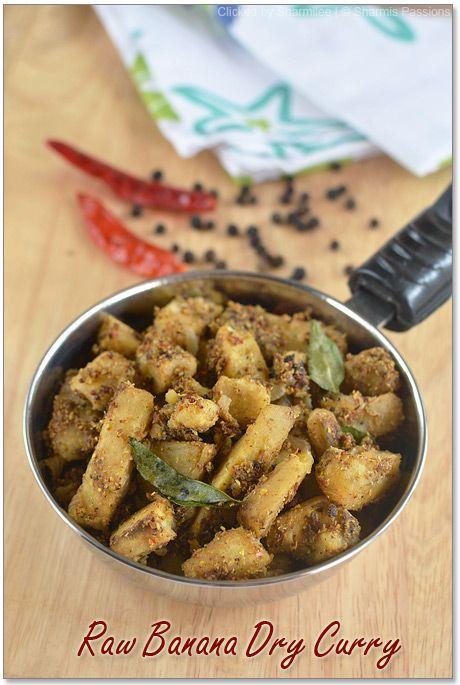 Raw Banana Dry Curry (Vazhakai Curry)