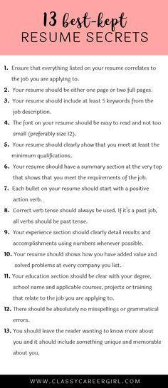 67 best Job Hunting images on Pinterest Job interviews, Resume