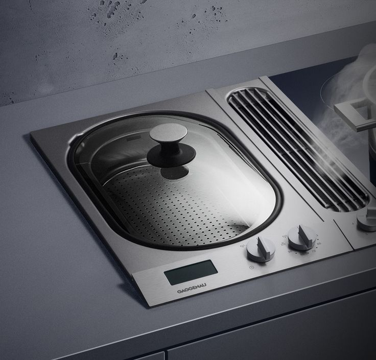 Gaggenau VK 230: allows full steam cooking in a small space. Its applications range from steam cooking and blanching to juice extraction and cooking through to regeneration - be it with water, stock or white wine in each case. The temperature control ensures precise adjustment of water temperature from 45°C to 95°C. Two cooking inserts can be used for simultaneously steaming different foods while ensuring that the taste of one is not transferred to the other.