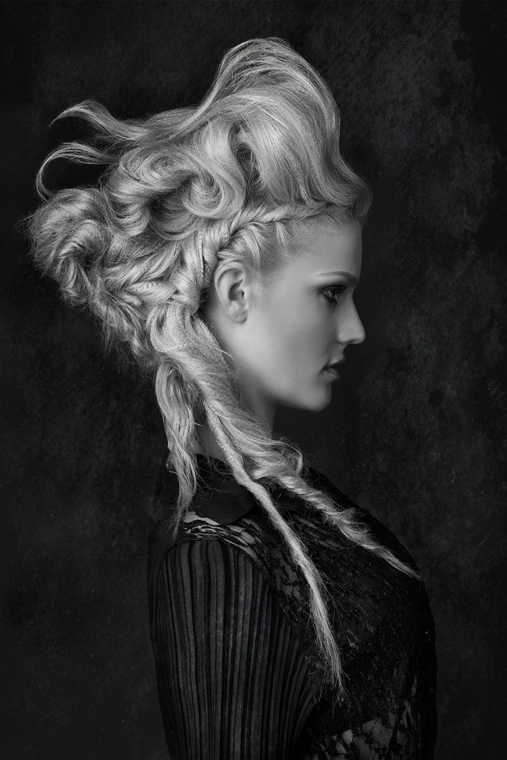 18th century inspired hair. This style is also on the Steampunk board. I think it could be incorporated as a twist on the look.