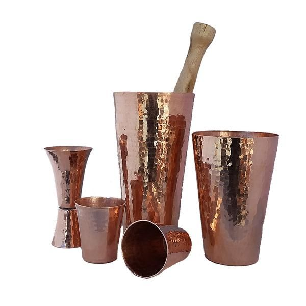 Raise the Bar on your next cocktail party with our Premium 100% Pure Copper Premium Cocktail Shaker Set. Great Conversation Starter. Free Shipping