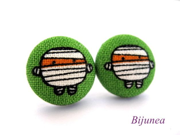 via en.dawanda.com Candy Stud Earrings – Mummy stud earrings sf655 =) – a unique product by Bijunea on DaWanda