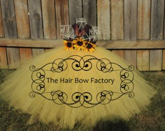 The Hair Bow Factory Sunflower Scarecrow Tutu Dress Size 12-24 Months to Size 12