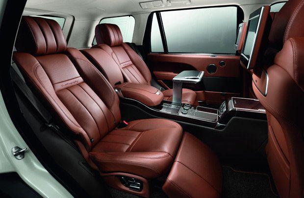 interior of Range Rover Autobiography   Foy's car