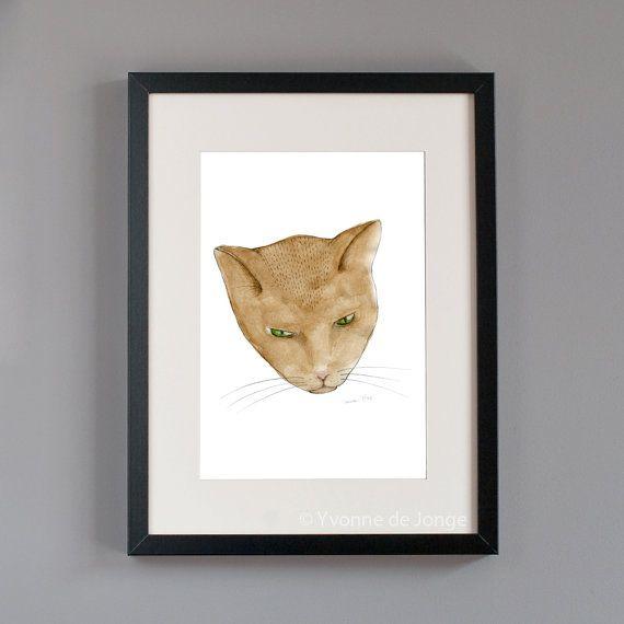 Totem kitteh 2 cat artprint