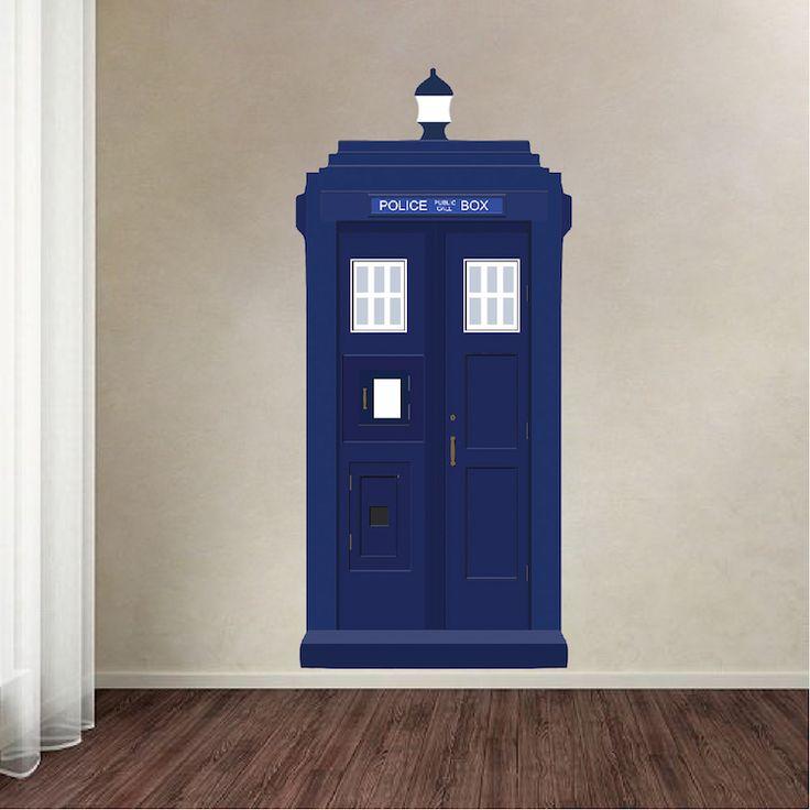Dr. Who TARDIS Vinyl Wall Decal   Tardis Wall Decal   Dr. Who Wall