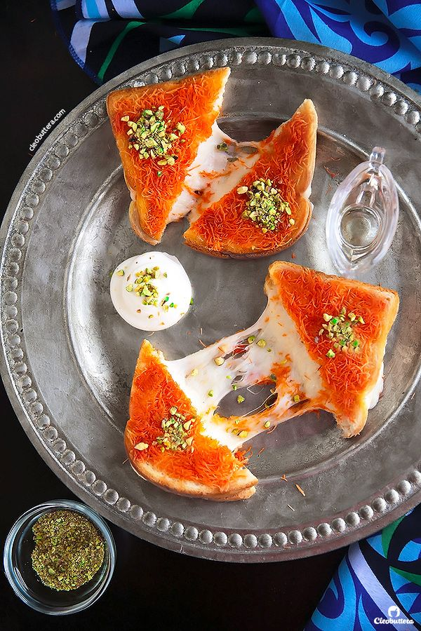 If you love cheese kanafeh, you're gonna go nuts over this sandwich version of it!