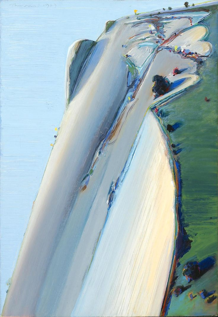 Wayne Thiebaud(American, b.1920)  Heart Ridge    1969  Oil on canvas      via