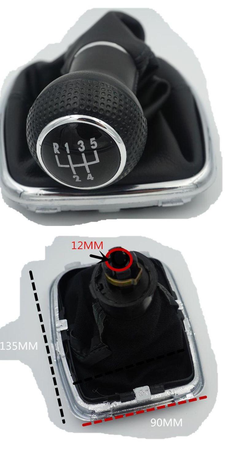 [Visit to Buy] FREE SHIPPING Car Gear Shift Knob 5 Speed 12mm Black Caps For VW BORA JETTA 4 GTI MK4 GOlf 4 1999-2005/ Seat Leon 2009 #Advertisement