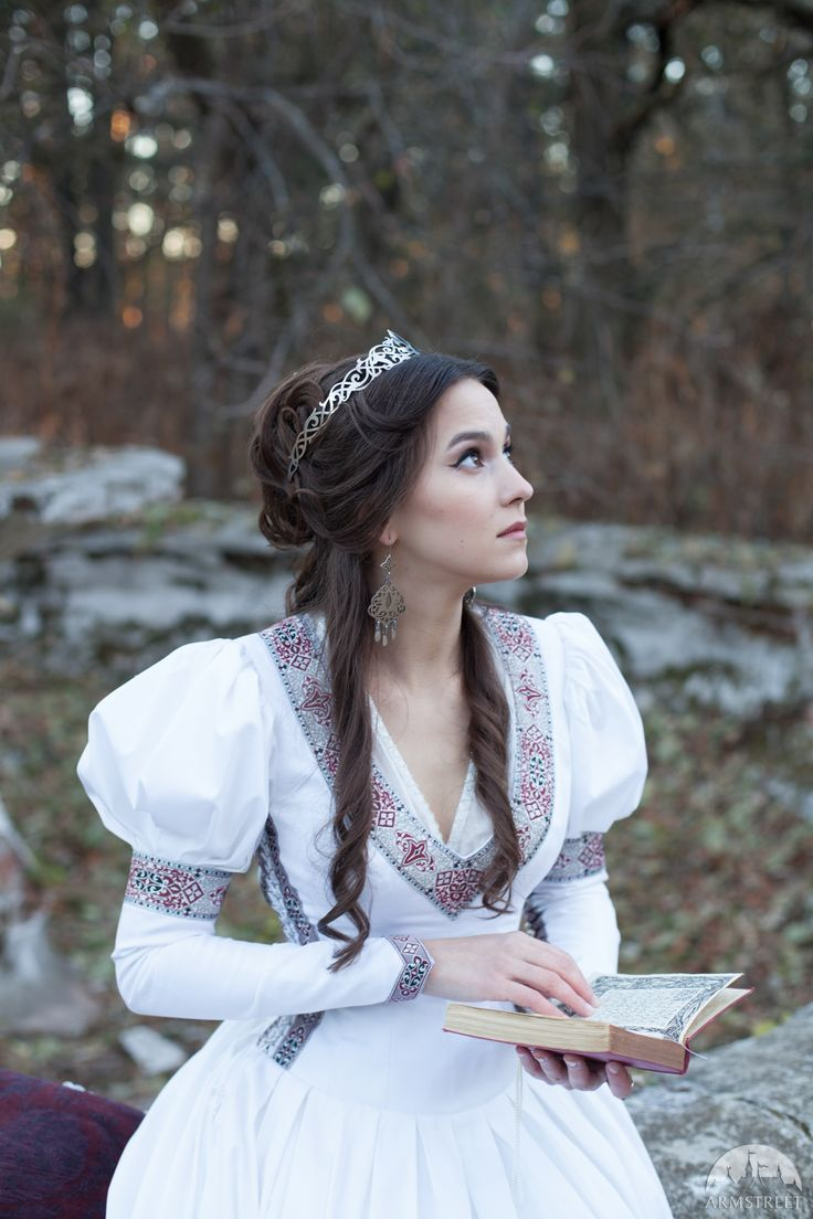 "White Medieval ""Found Princess"" Dress"