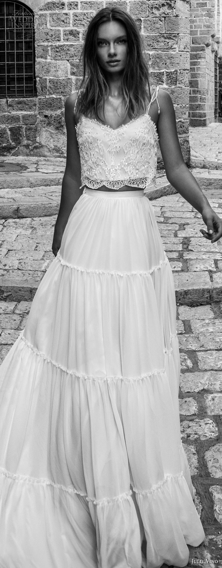 Best Piece Wedding Dress Ideas On Pinterest Two Piece