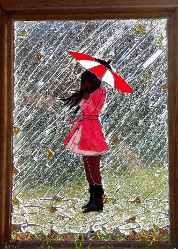 """NOVEMBER RAIN"" Glass on Glass Mosaic..."