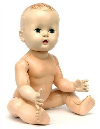 Old Dolls From the 1950s   Rosebud Baby Doll 1950's