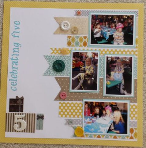 Our Granddaughter's birthday layout.