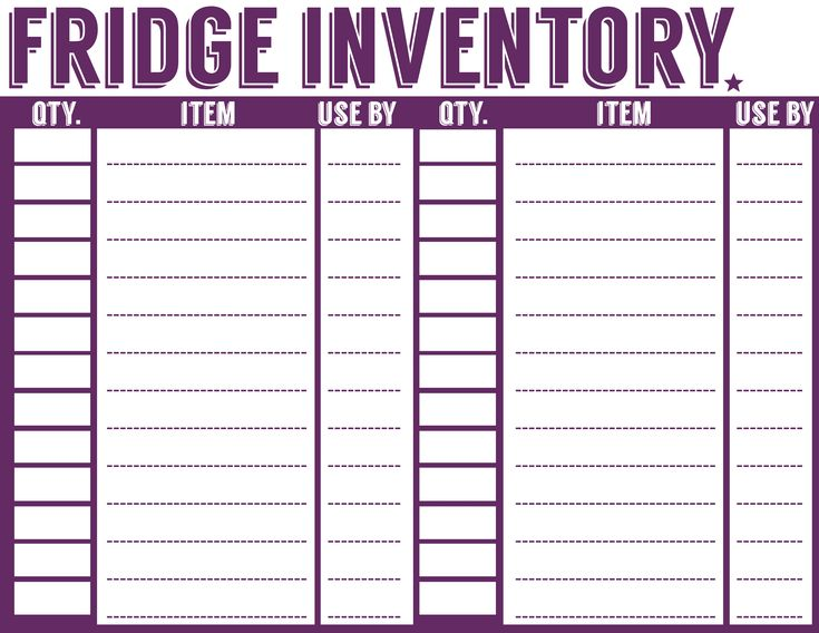 25+ unique Pantry inventory ideas on Pinterest Freezer inventory - free inventory list template