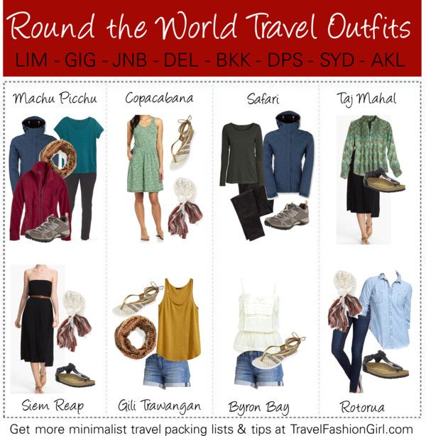 RTW Packing List Outfit Ideas: http://travelfashiongirl.com/rtw-packing-list-your-ultimate-guide-to-packing-for-around-the-world-travel/