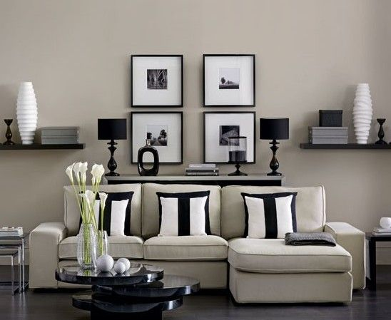 Almost Black White And Tan · White InteriorsModern InteriorsLiving Room ... Part 29