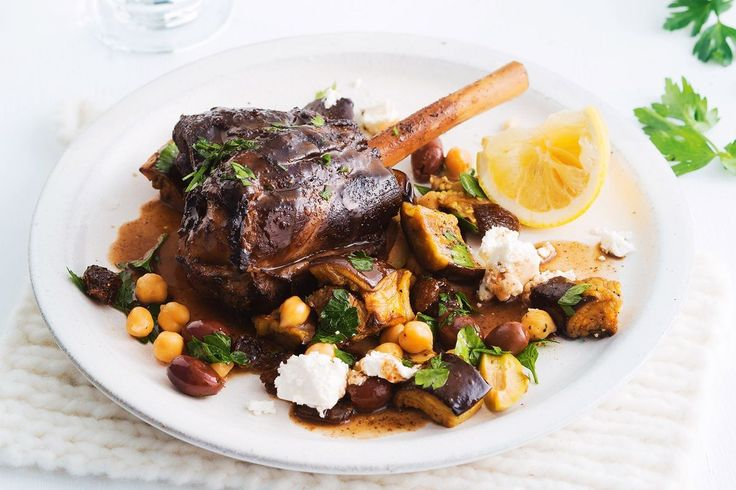 A foil wrapping will ensure these Greek-spiced lamb shanks cook perfectly. Pair them with green and kalamata olives and you'll be halfway to Athens.