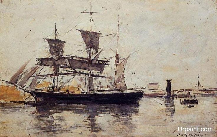 Three Masted Ship at Dock