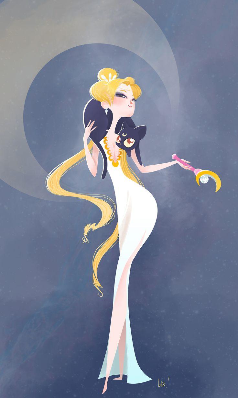 Envisions of Sailor Moon. Princess Serenity of 1920s era