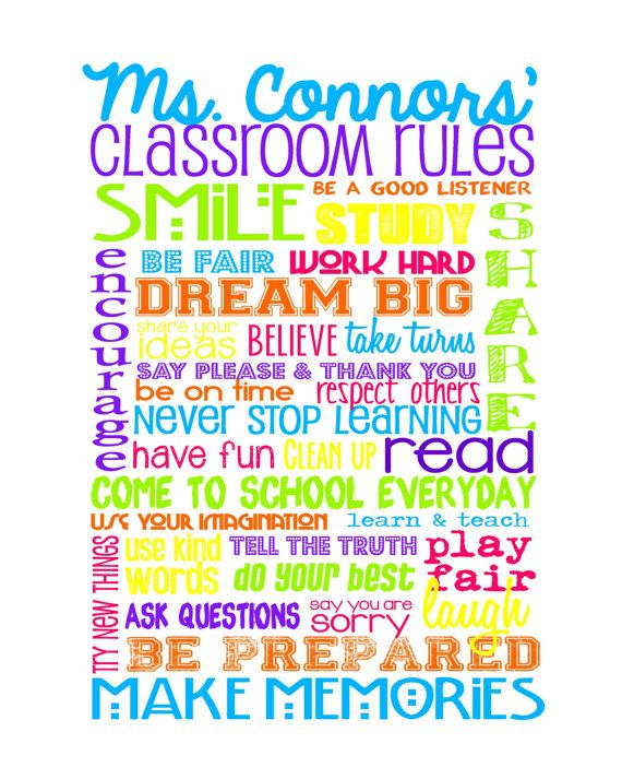 Classroom Rules for High School or Middle School by sweetleighmama, $12.99