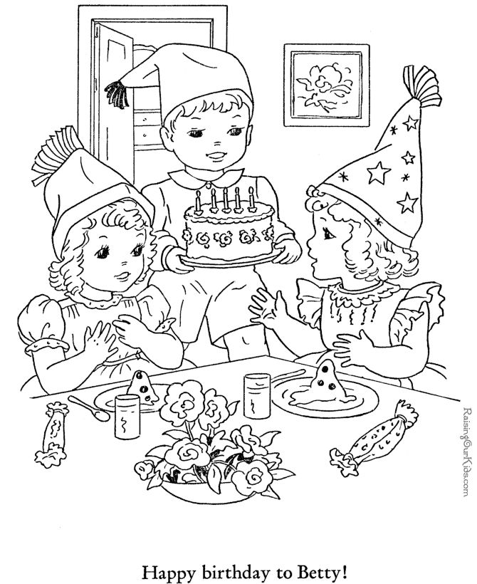 58 best happy birthday coloring pages images on pinterest happy b day happy birthday and - Color for th birthday ...