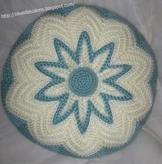 Ideal Delusions: Retro Round Ripple Pillow