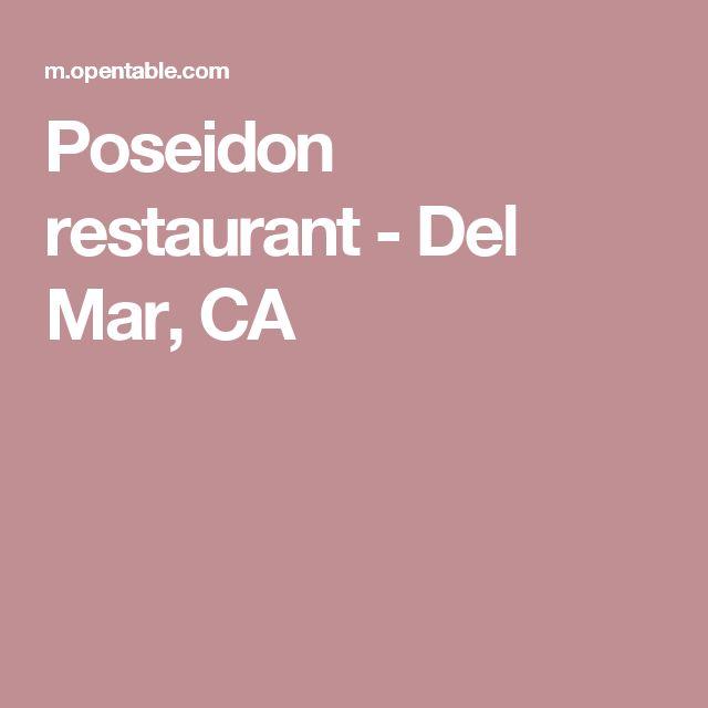 Poseidon restaurant - Del Mar, CA