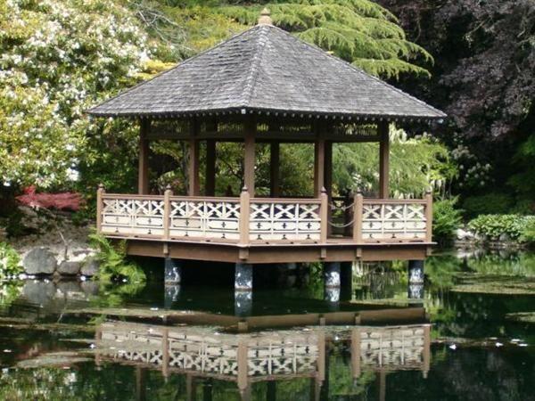 Asian style gazebo japanese garden gazebo backyard for Japanese style gazebo plans