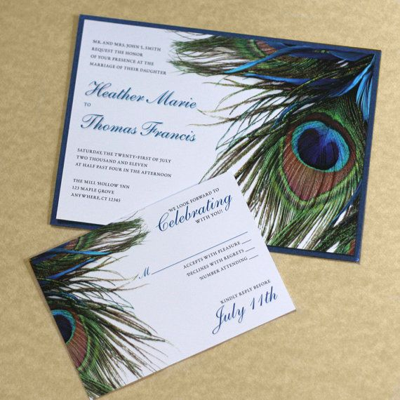 17 Best Ideas About Peacock Wedding Invitations On