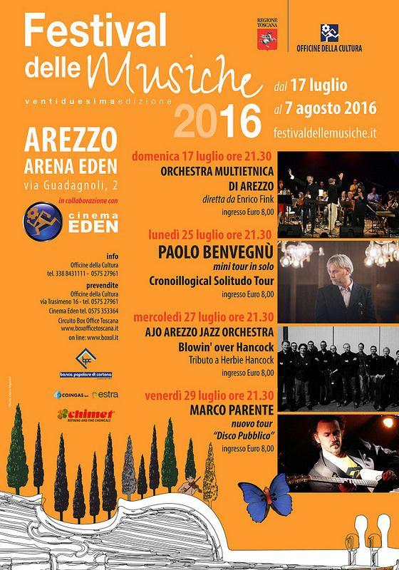 Festival delle Musiche 2016 - Eventi all'Arena Eden | da officinedellacultura