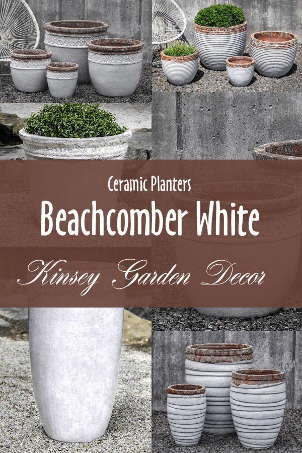 Kinsey Garden Decor White Ceramic Planters White Ceramic Planter