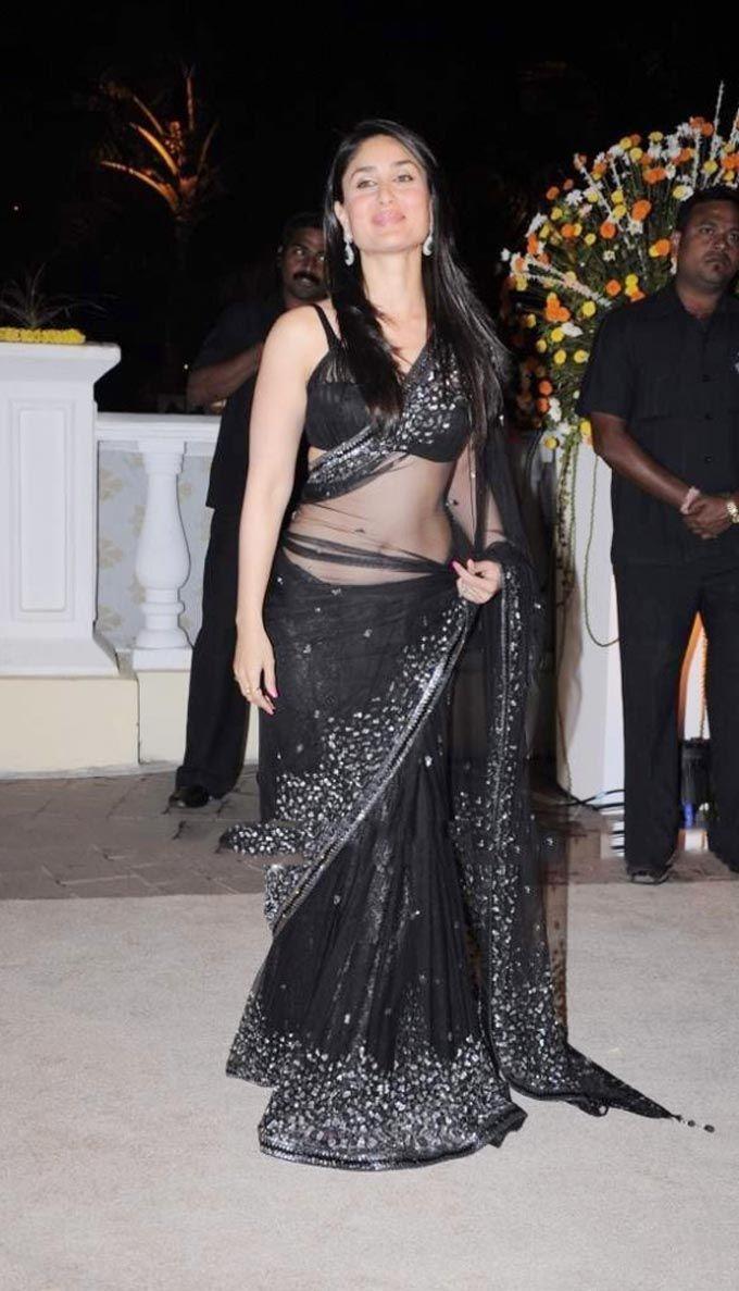 Kareena Kapoor in Black Saree #Bollywood #Style #Fashion