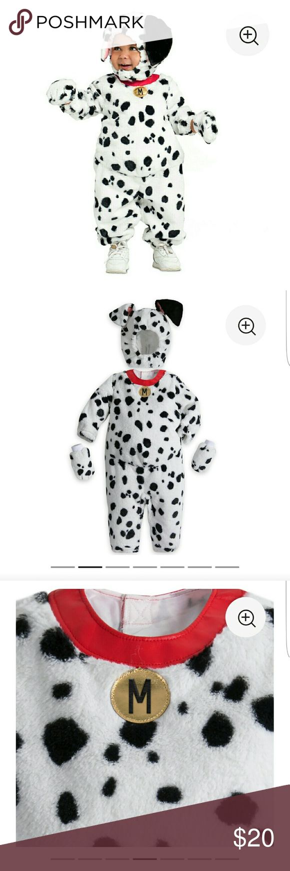 Disney store 101 Dalmatian costume Dalmatian costume includes bodysuit, headpiece and paw mittens/ Worn once for 30min Disney store Costumes
